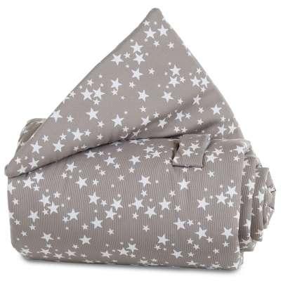 Tobi Babybay babybay Gitterschutz für Verschlussgitter alle Modelle, taupe Sterne weiß