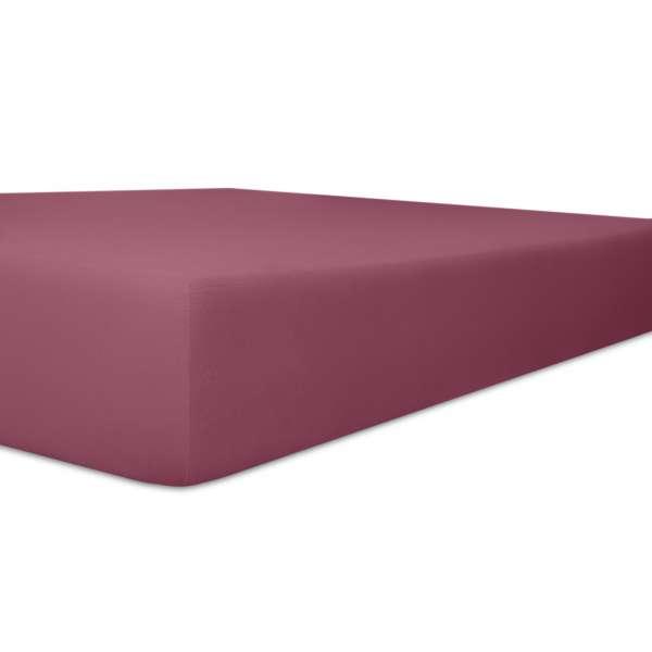 Kneer Vario Stretch Spannbetttuch Qualität 22 für Topper one brombeer 220x220 cm