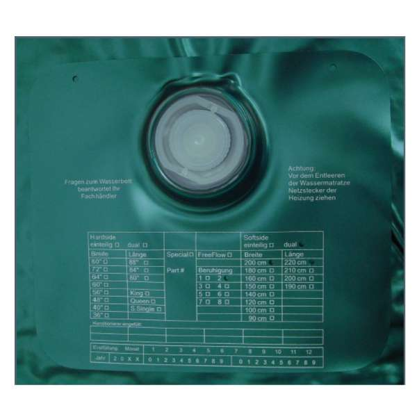ABBCO Eezy Wassermatratze - Wasserkern Softside für Duales WB 180x210 cm