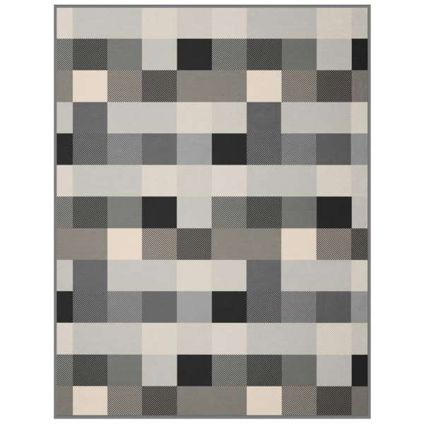 Biederlack Wohndecke Cotton Home 150x200 cm Grey Checked