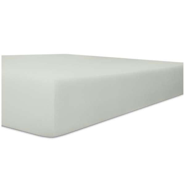 Kneer Flausch-Frottee Spannbetttuch für Matratzen bis 22 cm Höhe Qualität 10 Farbe platin