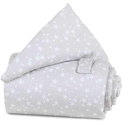 Tobi Babybay babybay Gitterschutz Piqué für Verschlussgitter, perlgrau Sterne weiß 000193500000