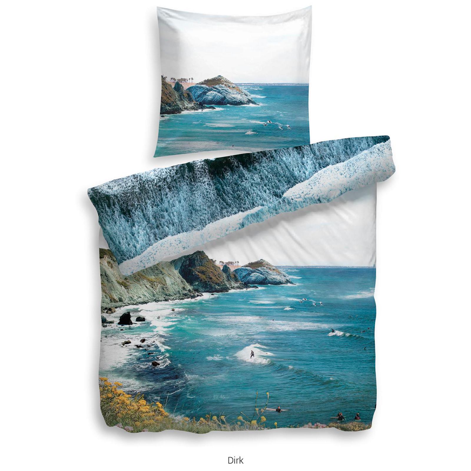 heckett lane bettw sche dirk gr e 155x220 cm farbe blau ebay. Black Bedroom Furniture Sets. Home Design Ideas